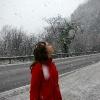 Снег за городом